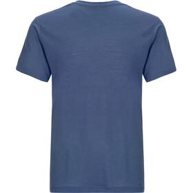 super.natural Base V Neck Tee 140 Bielizna górna Mężczyźni niebieski
